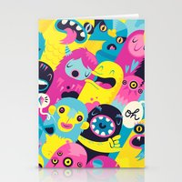 monsters Stationery Cards featuring Monsters by Lienke Raben