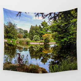 Lakeside reflections. Wall Tapestry