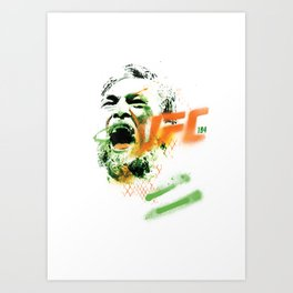 Conor McGregor UFC 194 collectable limited edition print Art Print