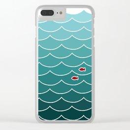 Deep Ocean Fish Clear iPhone Case