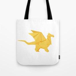 Origami Golden Dragon Tote Bag