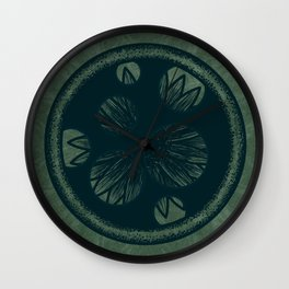 Hidden Flower Wall Clock