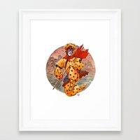 kit king Framed Art Prints featuring Monkey King by Kit Seaton