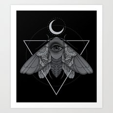 Occult Moth Art Print