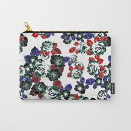 Cool Floral texture Carry-All Pouch
