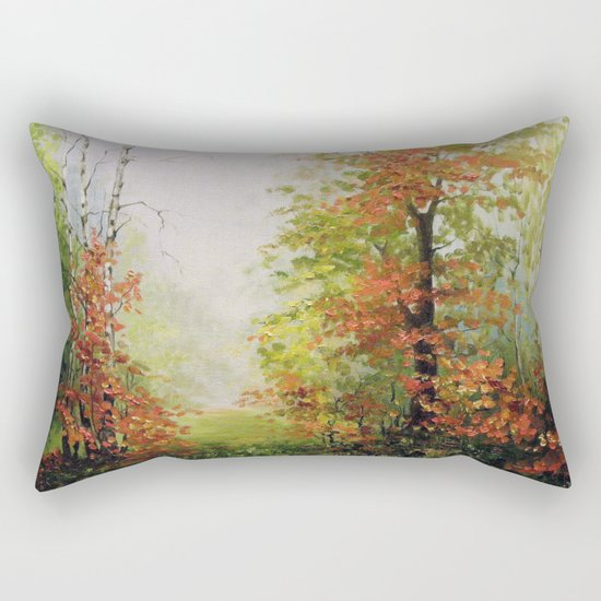 In the autumn forest Rectangular Pillow