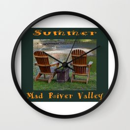 Summer By the River in the Mad River Valley, Vermont Wall Clock
