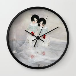 lost hearts Wall Clock