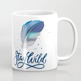 Feathers and Stay Wild Coffee Mug