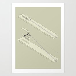 Clothespin shotgun Art Print