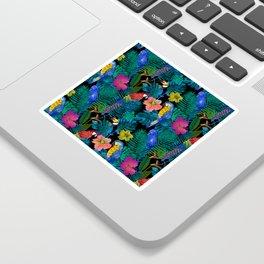 Tropical Birds and Botanicals Sticker