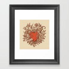 Heart of Thorns  Framed Art Print