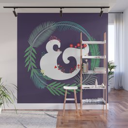 Floral ampersand Wall Mural