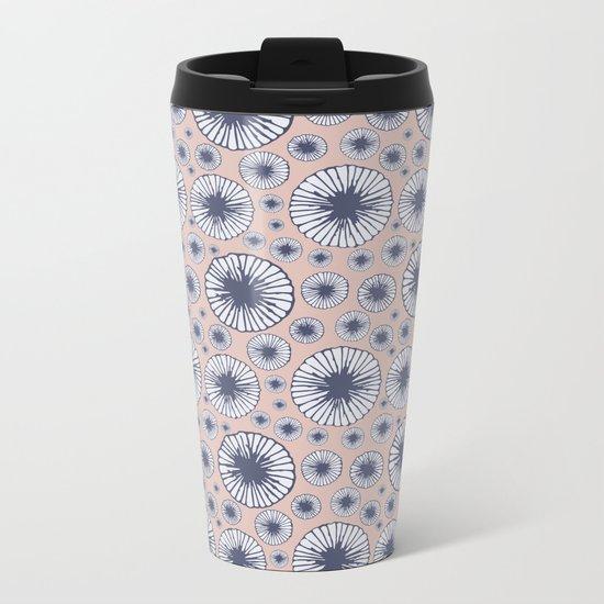 Candy Floral Pattern Metal Travel Mug