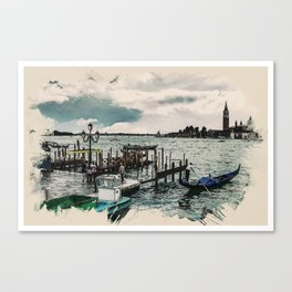 Wonders of the Worlds - Venice Gondola Water Venezia Europe Canvas Print