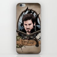 captain hook iPhone & iPod Skins featuring Captain Hook by artbymurrl