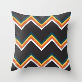 Classy Retro Stripes Pattern Suleviae Throw Pillow