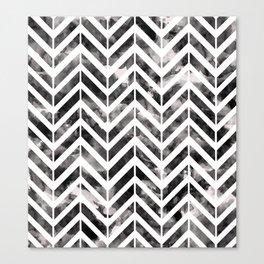 Brush Chevron Canvas Print