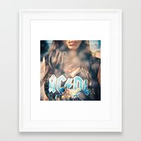 acdc Framed Art Prints featuring ACDC by cesca