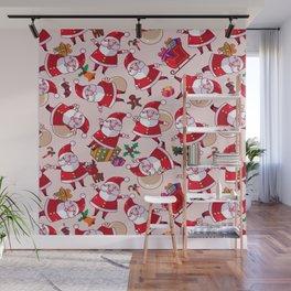 Santa Gift Pattern Wall Mural