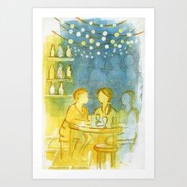 Barcelona Nights Art Print