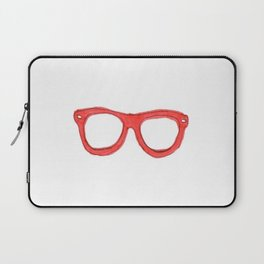 Red Nerd Glasses Laptop Sleeve