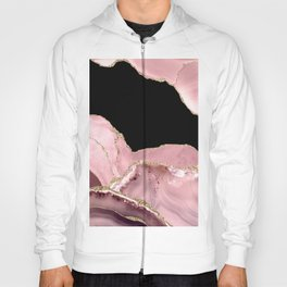 Blush & Gold Agate Texture 03 Hoody