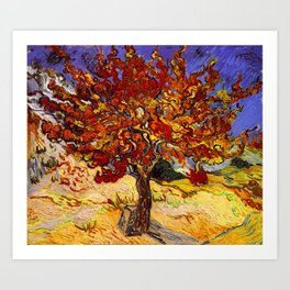 Vincent Van Gogh Mulberry Tree Art Print