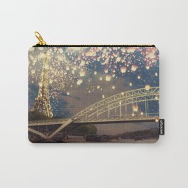 Love Wish Lanterns over Paris Carry-All Pouch