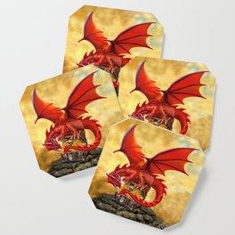 Red Dragon's Treasure Chest Coaster
