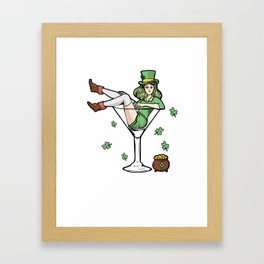 Patrick's Day Drinking Leprechaun Shamrock Gift Framed Art Print