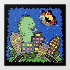 Monstrous Friendship Canvas Print