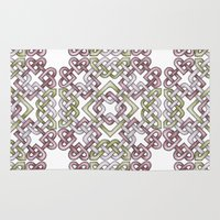 celtic Area & Throw Rugs featuring Celtic Knotwork by Carrie at Dendryad Art