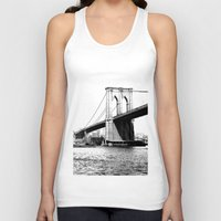 brooklyn bridge Tank Tops featuring Brooklyn Bridge by Amy Giacomelli