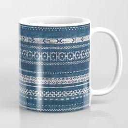 Moroccan Stripe - Blue Coffee Mug