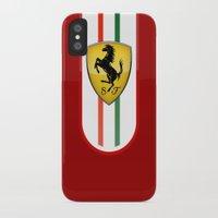 ferrari iPhone & iPod Cases featuring FERRARI by Smart Friend