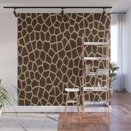 primitive safari animal brown and tan giraffe spots Wall Mural
