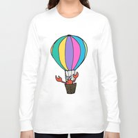 percy jackson Long Sleeve T-shirts featuring Percy Purcell the Worried Crab by Abigail Balfe