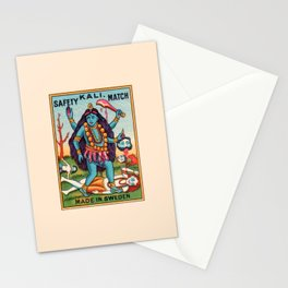Kali Hindu Goddess Devi Shakti Matches Vintage Graphic Stationery Cards