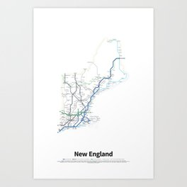 Highways of the USA – New England Art Print