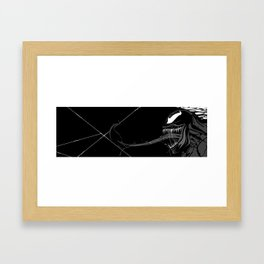 Black and White Pen Work Framed Art Print