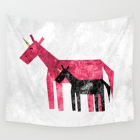 mom Wall Tapestries featuring Thanks Mom by That's So Unicorny