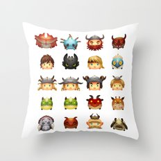Little Dragons Throw Pillow