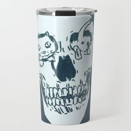 Kitty skull Travel Mug