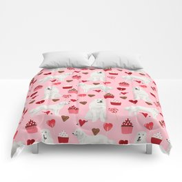 Great Pyrenees dog breed valentines day gifts for dog lover unique dog breeds valentine Comforters