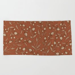 Thistle in Autumn Beach Towel