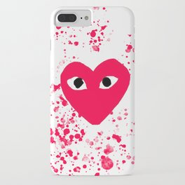 red heart splash paint iPhone Case