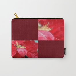 Mottled Red Poinsettia 2 Blank Q10F0 Carry-All Pouch