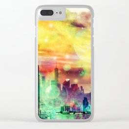 New York Fantasy Clear iPhone Case