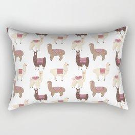 llamas and alpacas Rectangular Pillow